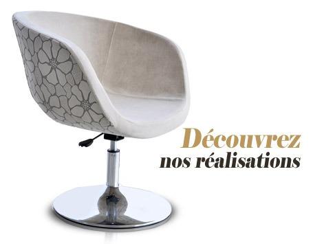 Recouvrement d'un fauteuil design en Belgique