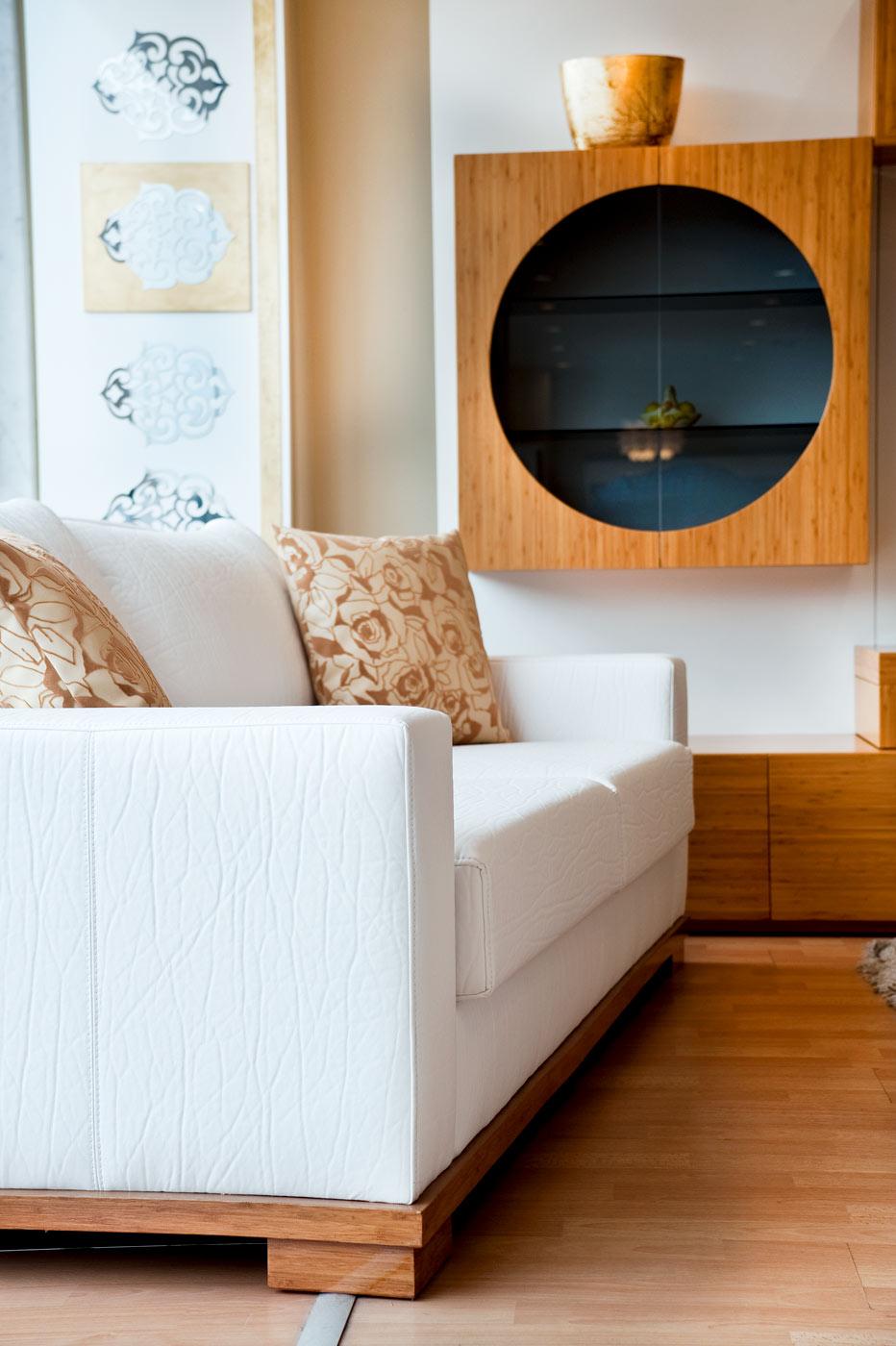 Recouvrement de mobilier de salon en cuir texturé